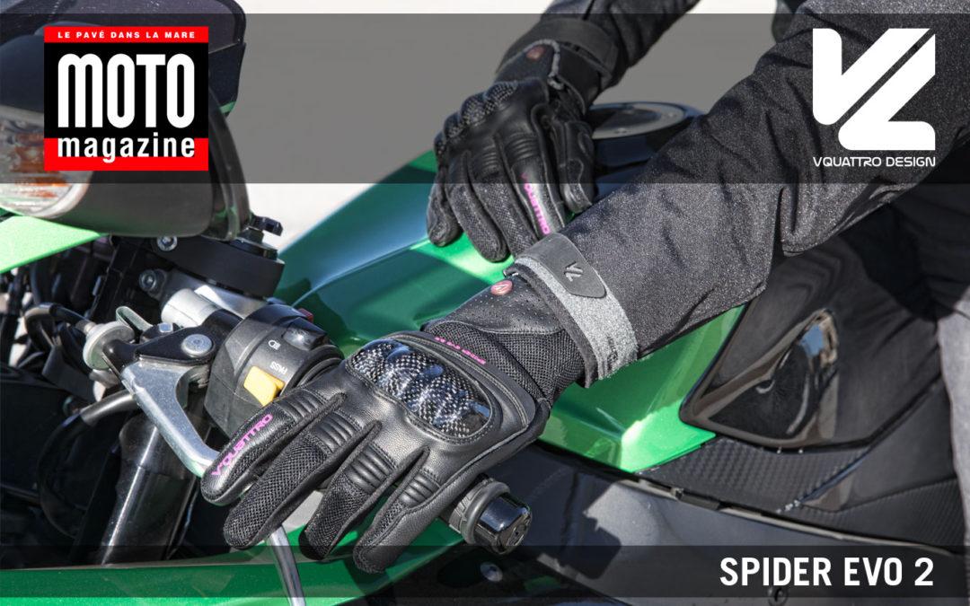 Essai Motomag : gants été SpiderEvo2 VQuattro design
