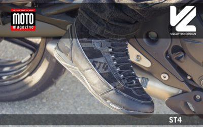 Essai Motomag : baskets moto ST4 VQuattro design