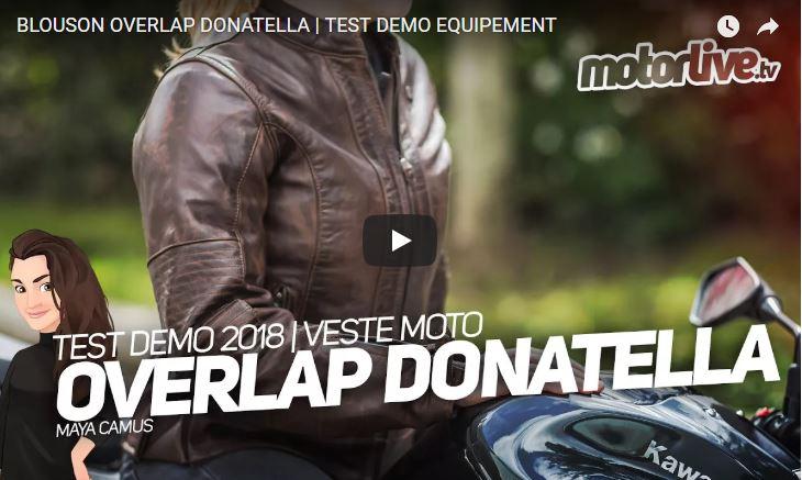 Essai Motoservices : blouson moto Donatella Overlap