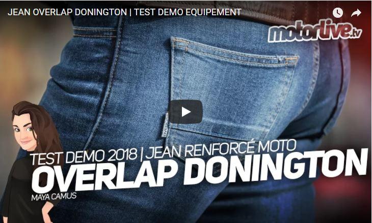 Essai Motoservices : jean moto Donington Overlap