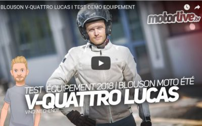 Essai Motoservices : blouson moto Lucas Vquattro design