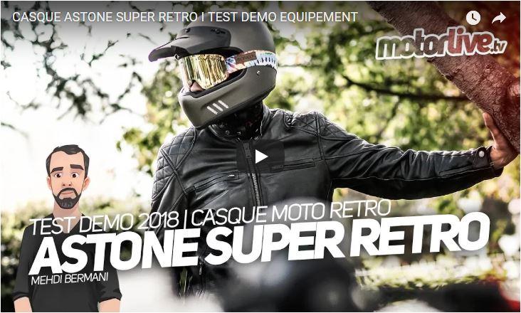 Essai Motoservices : casque moto Super Retro Astone helmets
