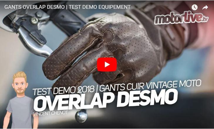Essai Motoservices : gants moto Desmo Overlap