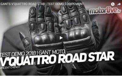 Essai Motoservices : gants moto Roadstar Vquattro design