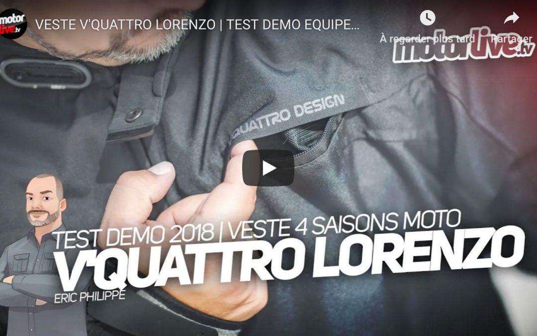 Essai Motoservices : blouson moto Lorenzo Vquattro design