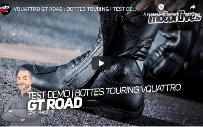 Essai Motoservices : bottes moto GT Road Vquattro design