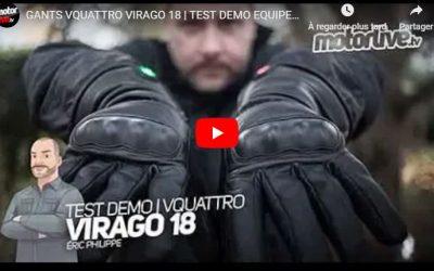 Essai Motoservices : gants chauffants Virago 18 Vquattro design