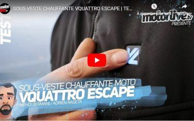 Essai Motoservices : veste chauffante Escape Vquattro design