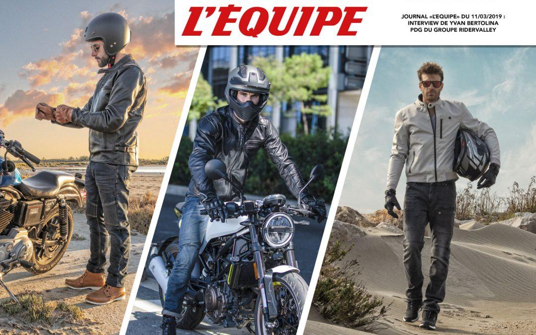 L'Equipe – Interview du PDG de Ridervalley, Yvan Bertolina