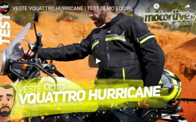 Essai Motoservices : veste touring Hurricane Vquattro design