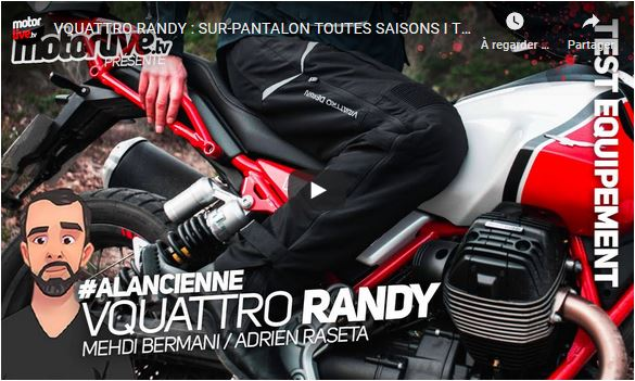 Essai Motoservices : pantalon Randy VQuattro Design