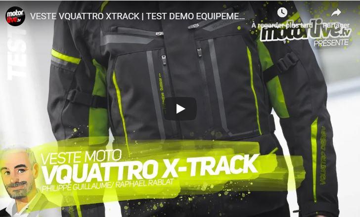 Essai Motoservices : veste touring Xtrack Vquattro design